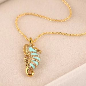 Kate spade sea horse necklace